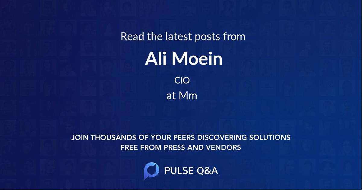Ali Moein
