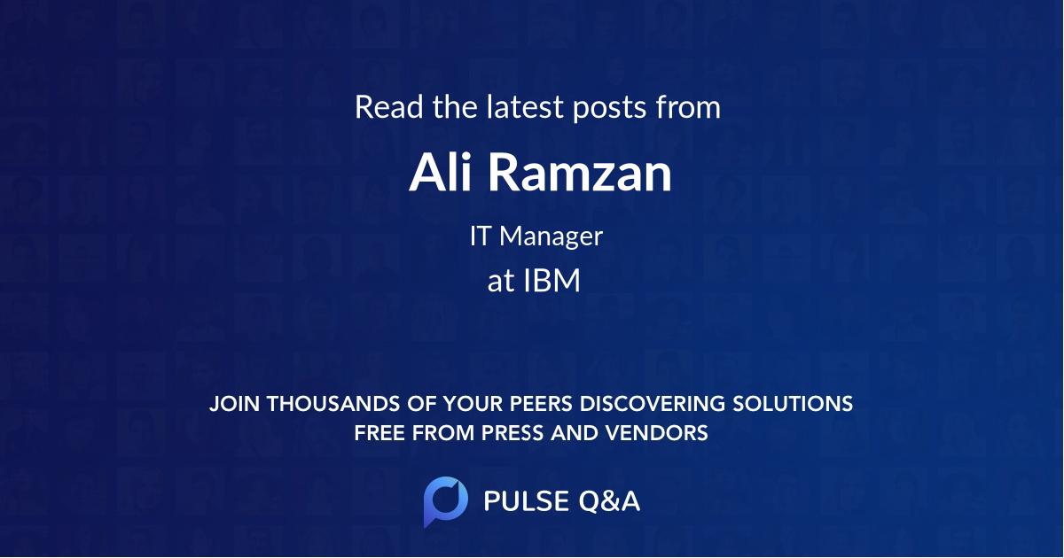 Ali Ramzan