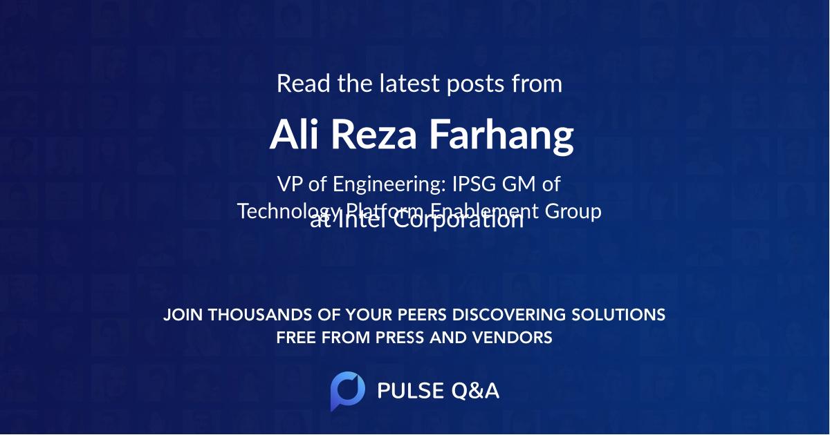 Ali Reza Farhang