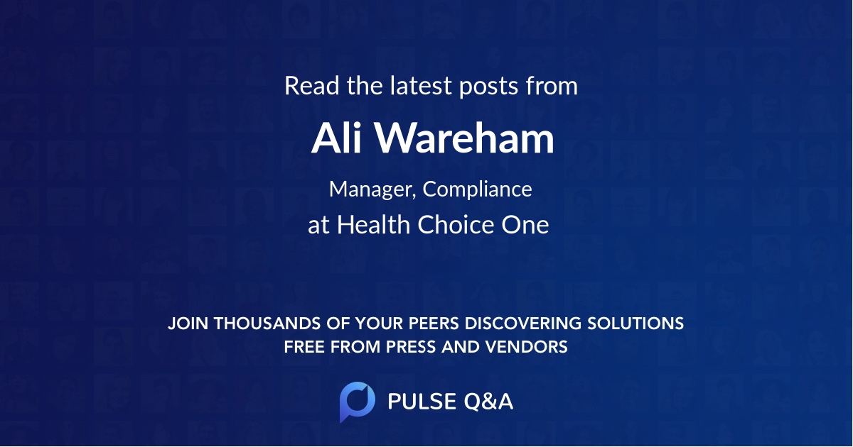Ali Wareham