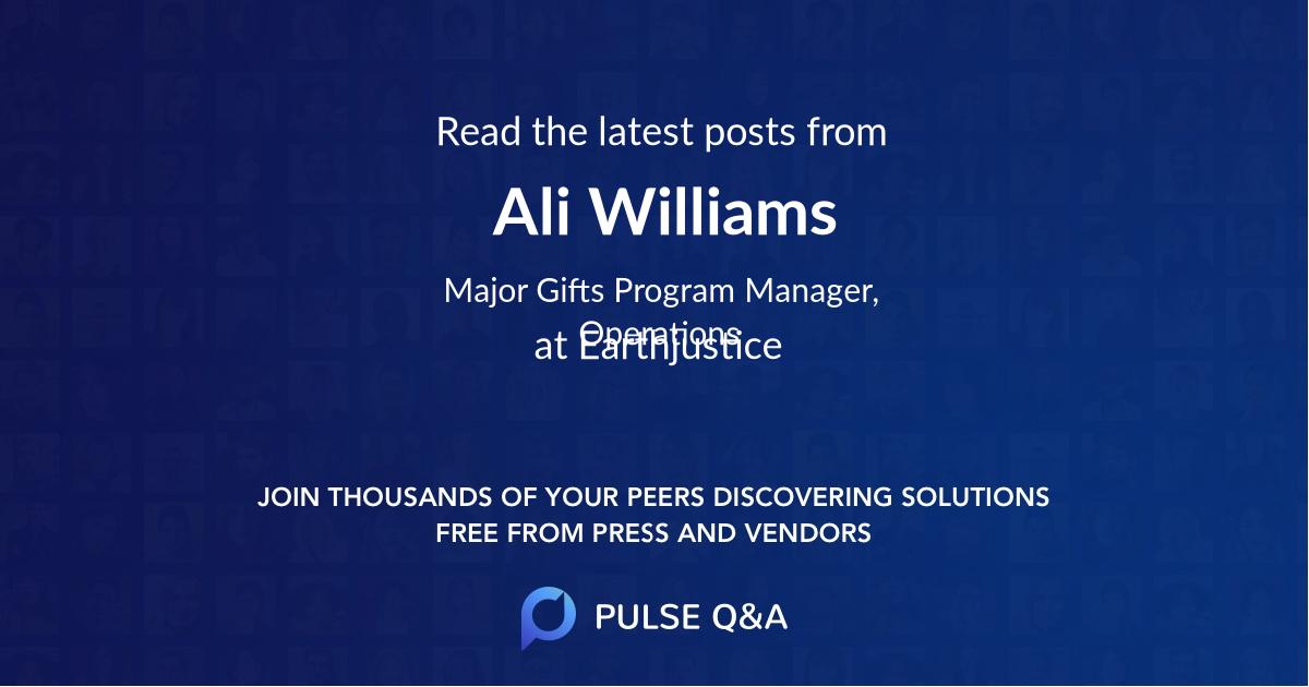 Ali Williams