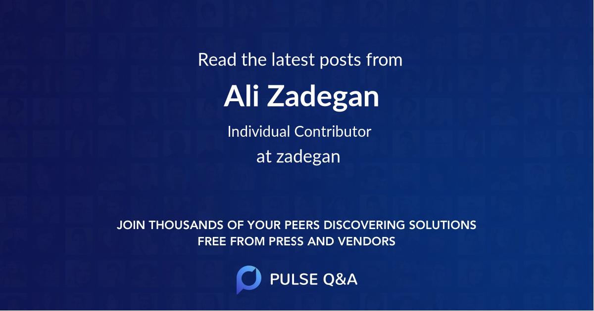 Ali Zadegan