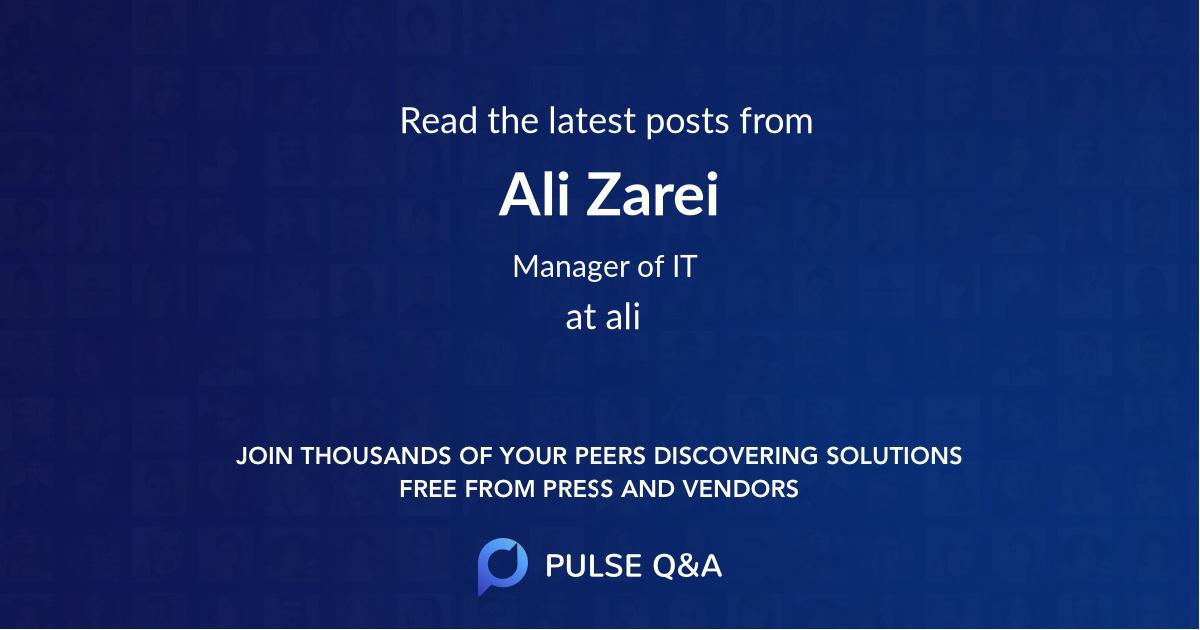 Ali Zarei