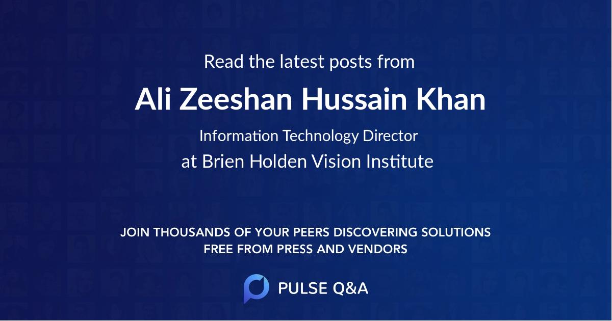 Ali Zeeshan Hussain Khan