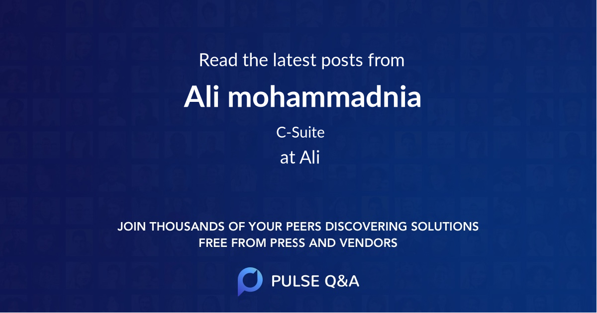 Ali mohammadnia
