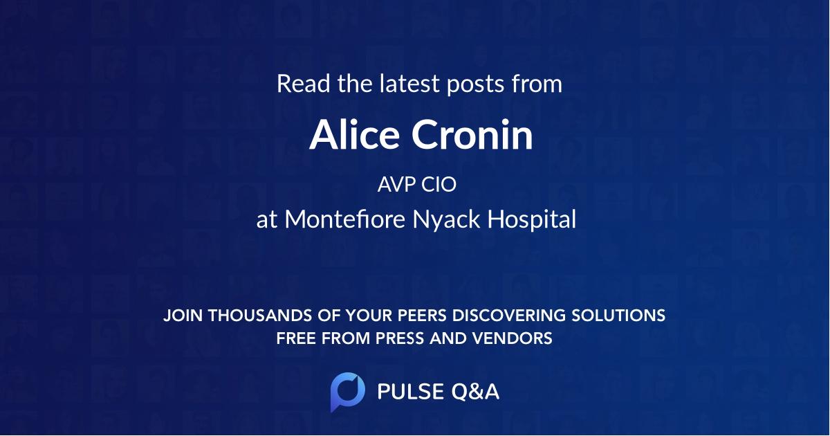 Alice Cronin