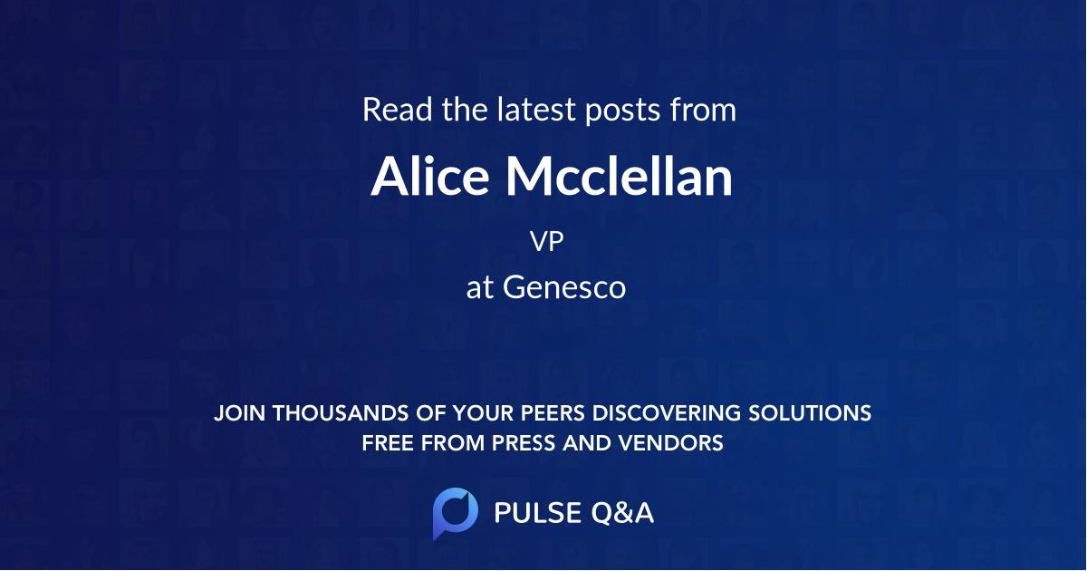 Alice Mcclellan