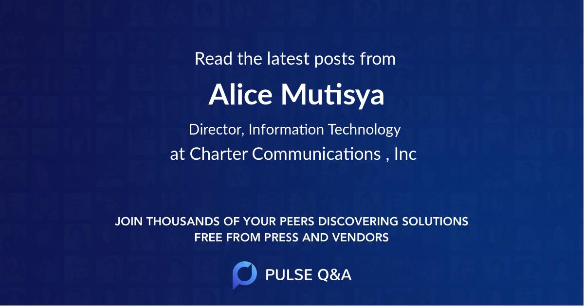 Alice Mutisya
