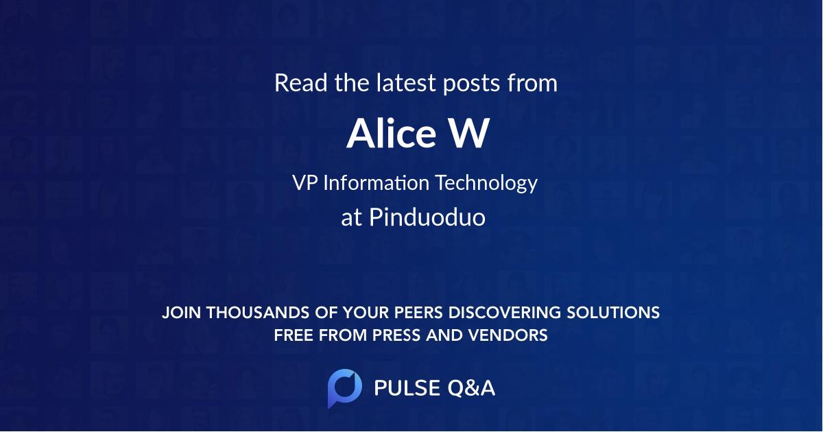 Alice W