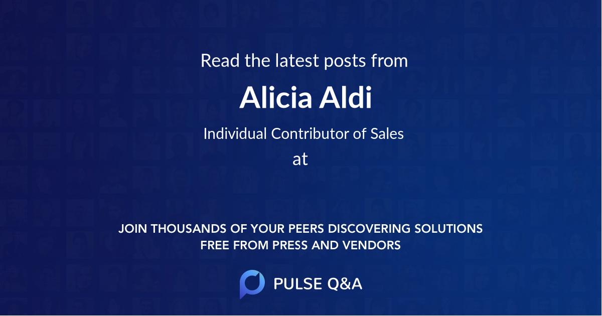 Alicia Aldi
