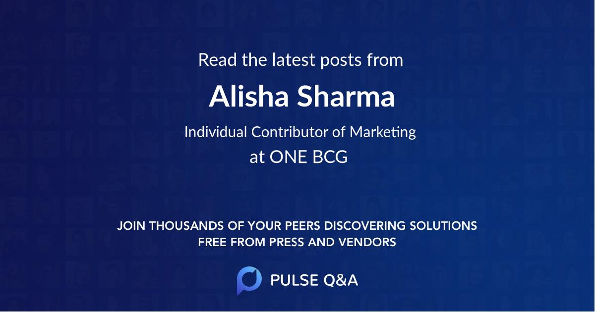 Alisha Sharma