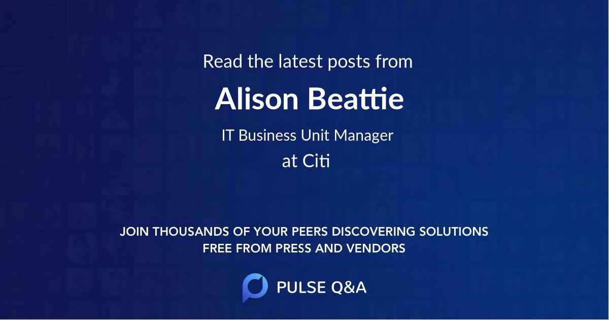 Alison Beattie