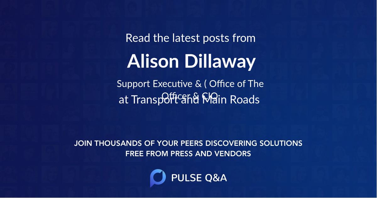 Alison Dillaway