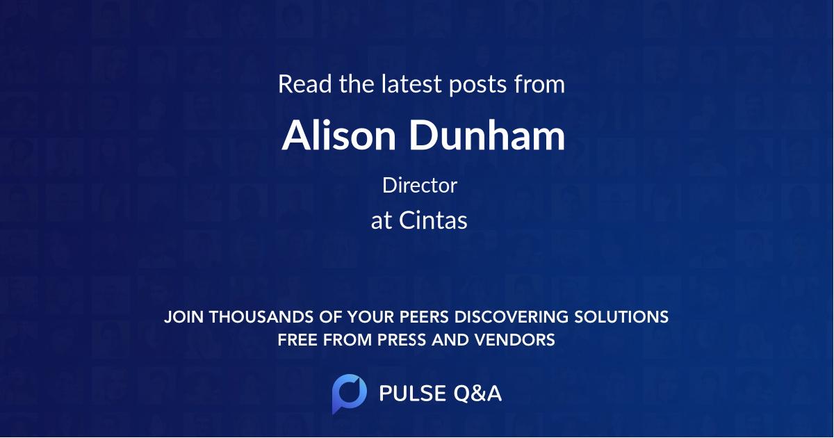 Alison Dunham
