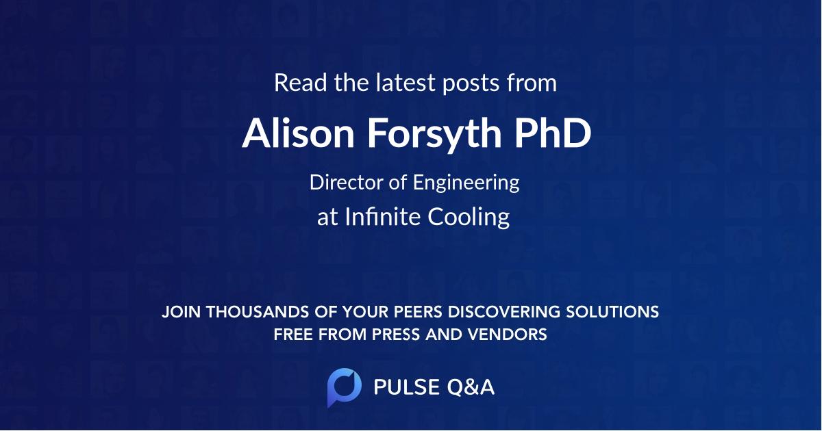 Alison Forsyth PhD