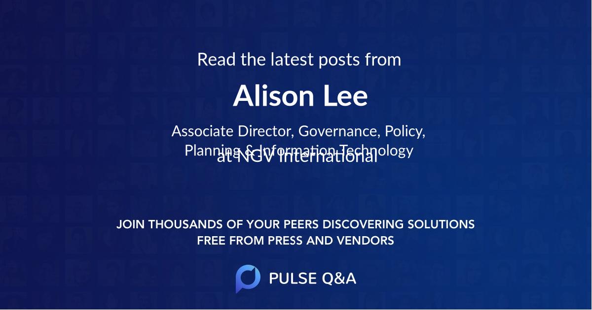 Alison Lee