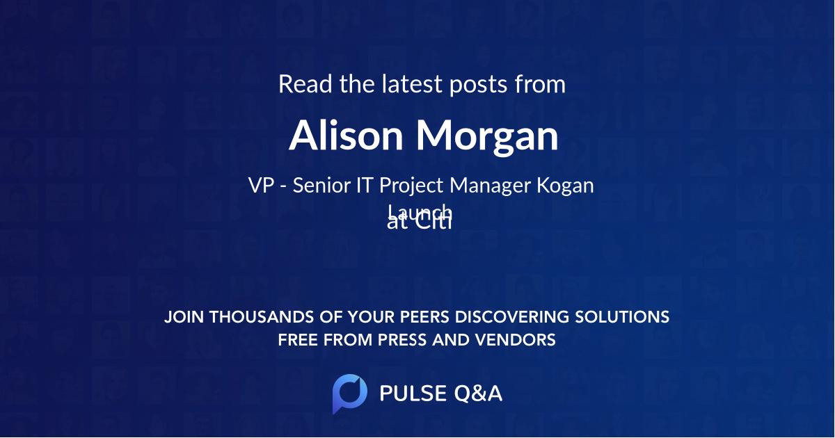 Alison Morgan