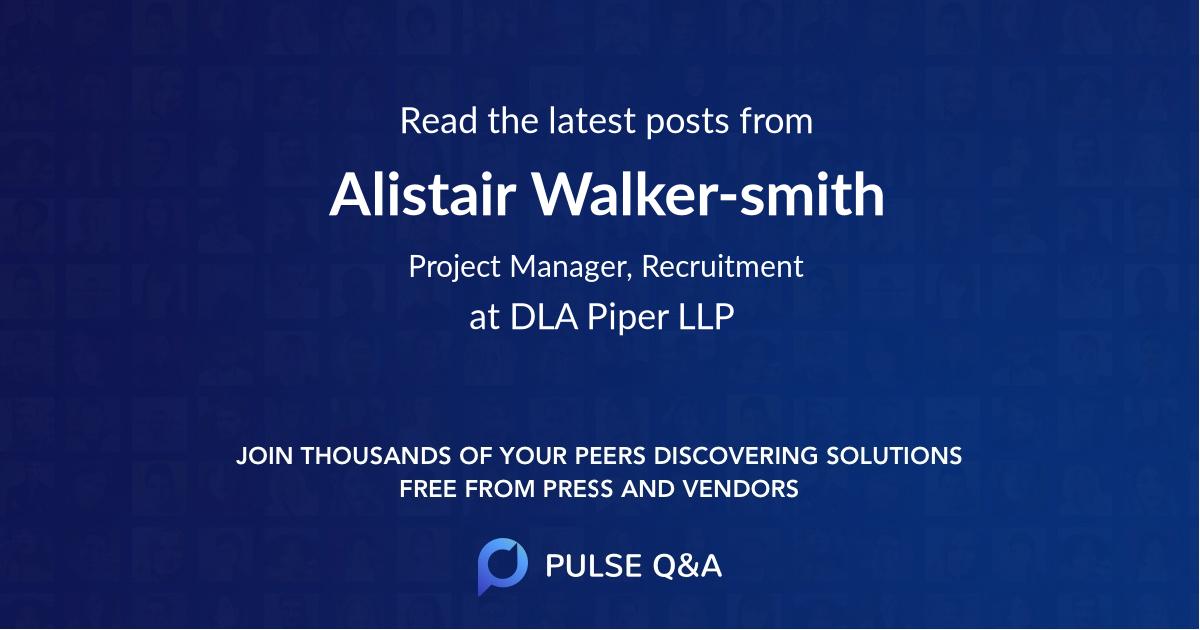 Alistair Walker-smith