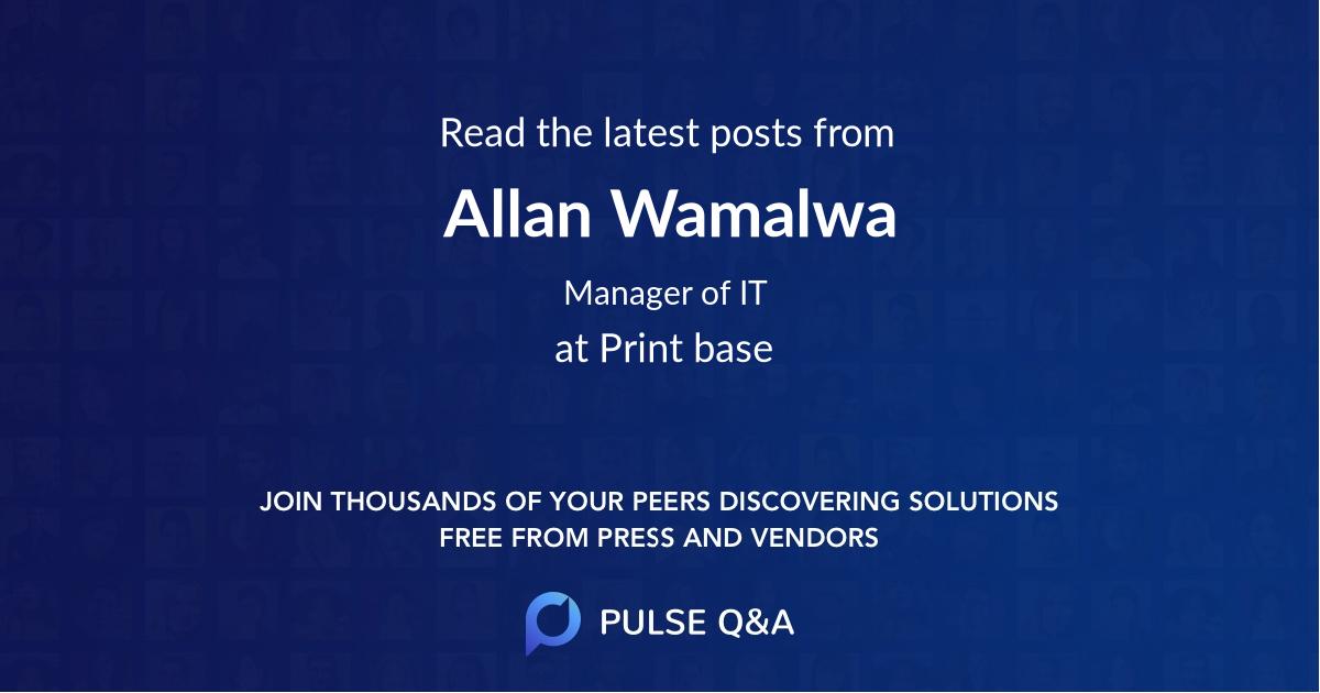 Allan Wamalwa
