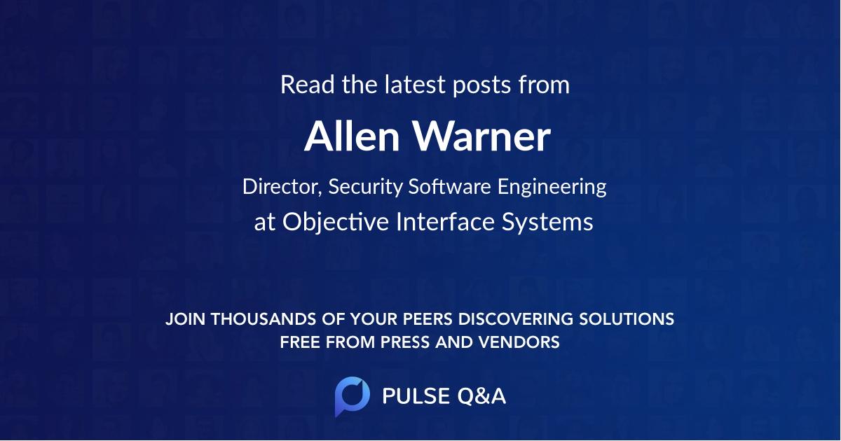 Allen Warner