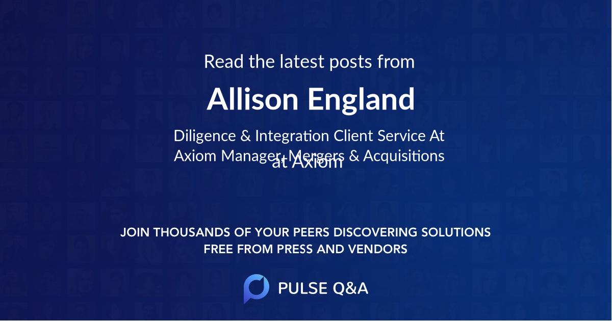 Allison England
