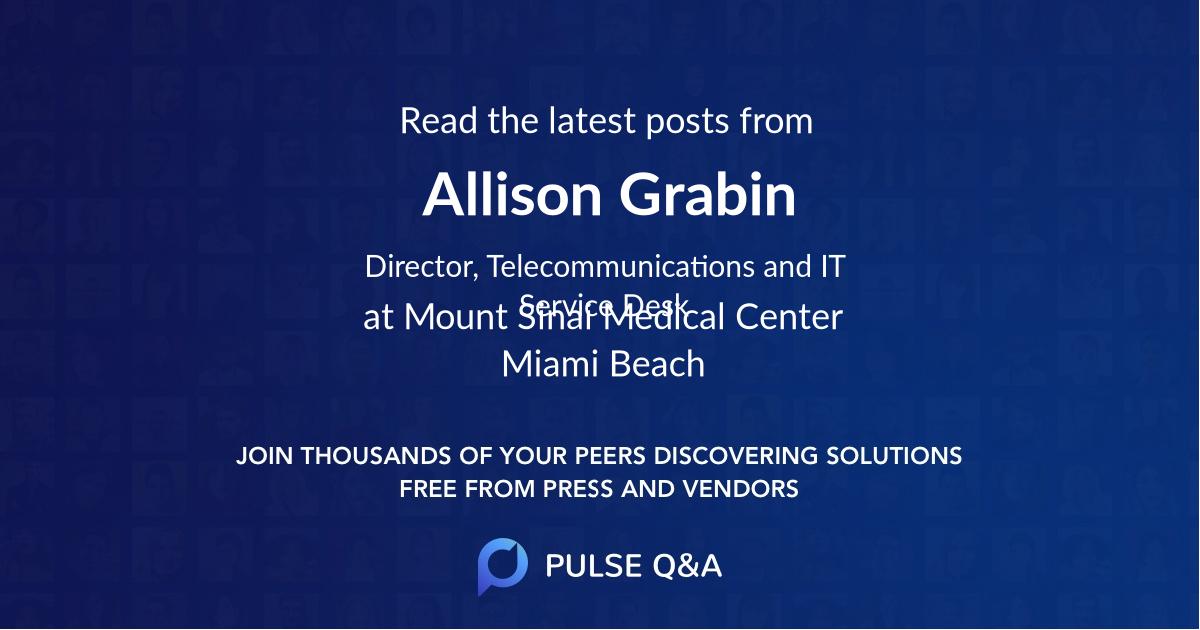 Allison Grabin