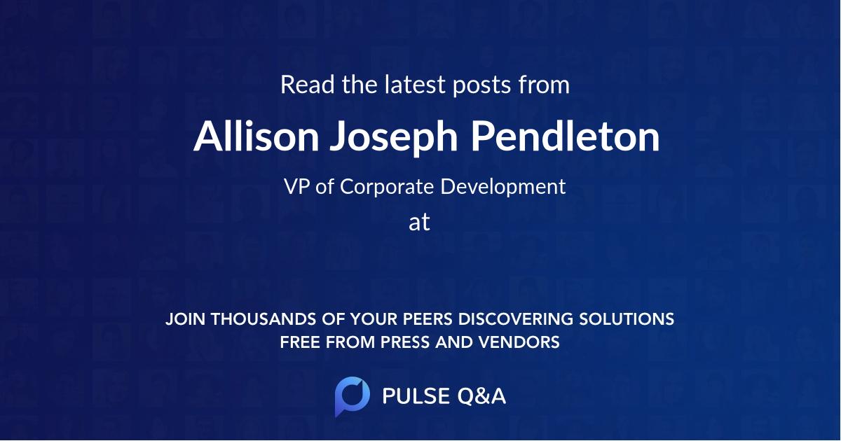 Allison Joseph Pendleton