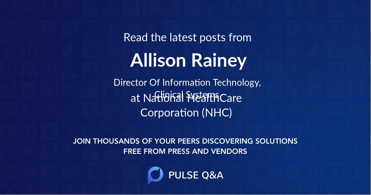 Allison Rainey