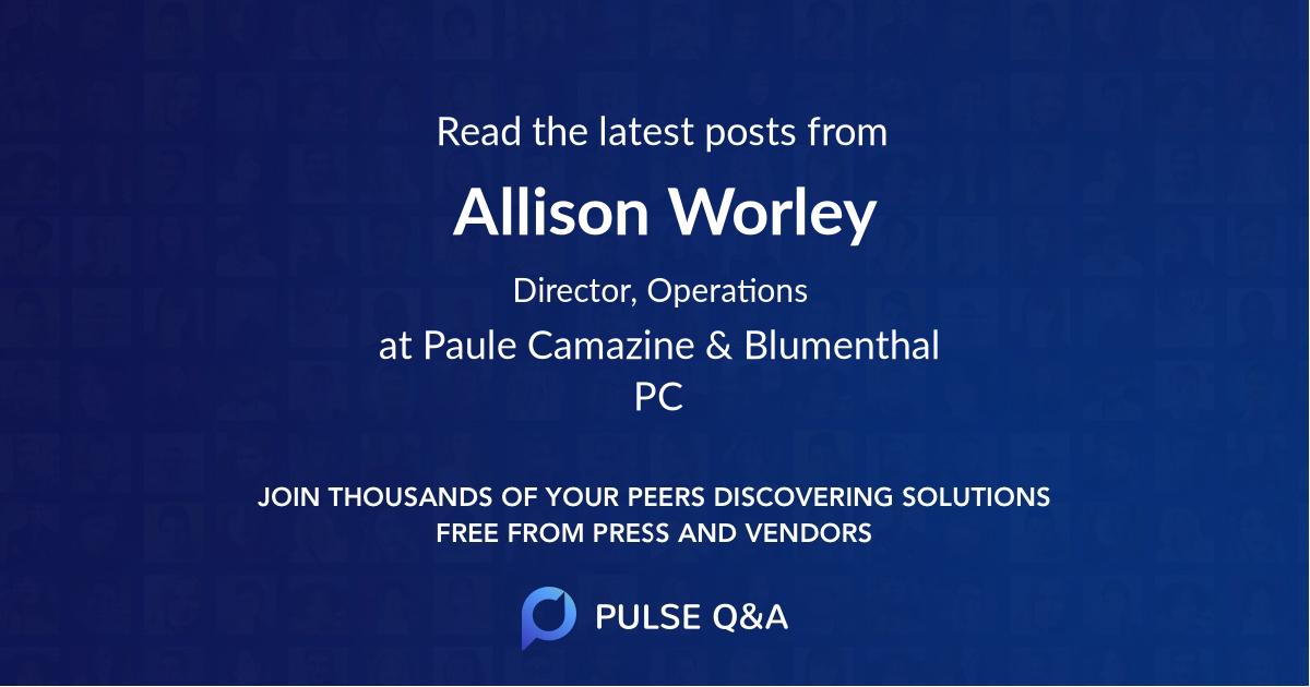 Allison Worley