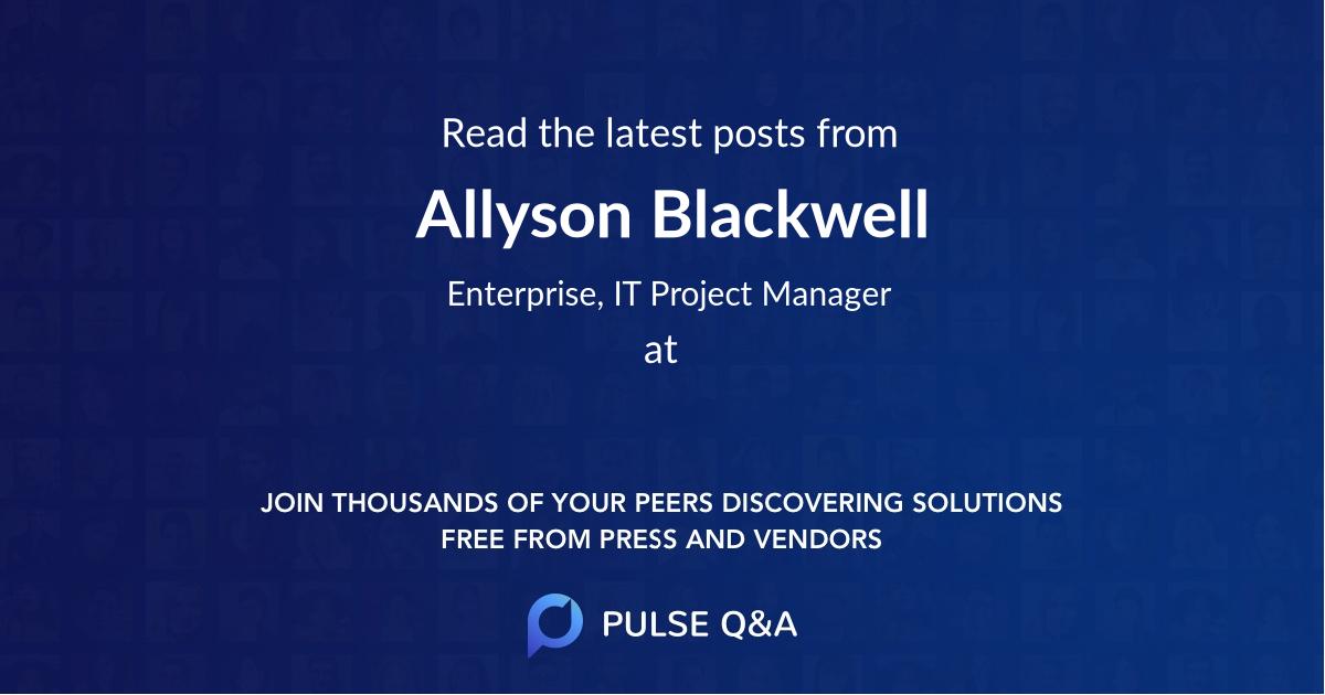 Allyson Blackwell