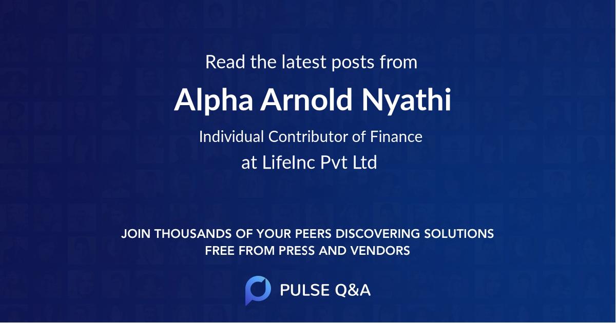 Alpha Arnold Nyathi