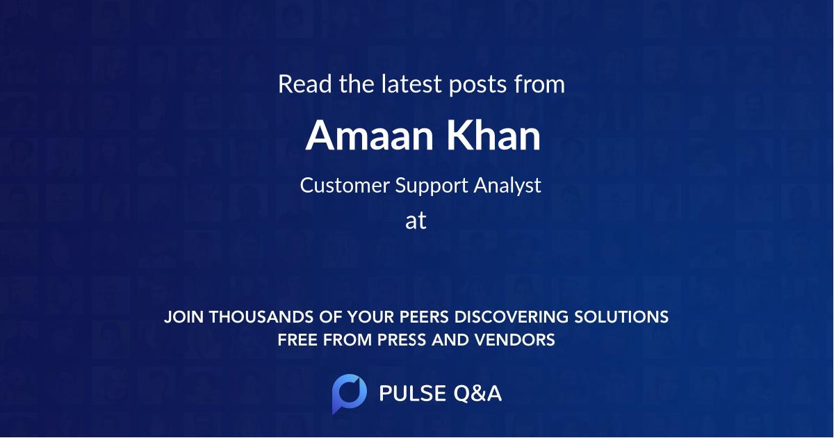 Amaan Khan