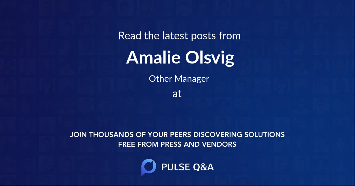 Amalie Olsvig