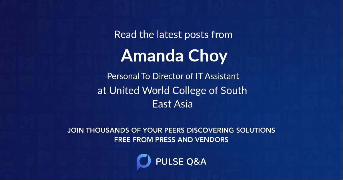 Amanda Choy