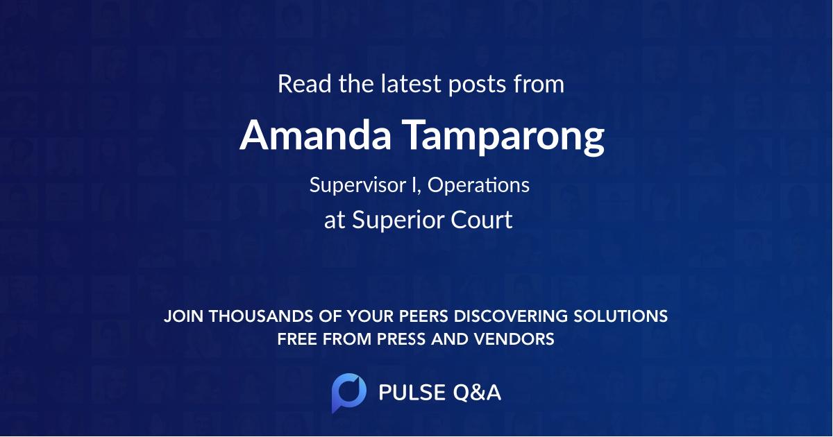 Amanda Tamparong