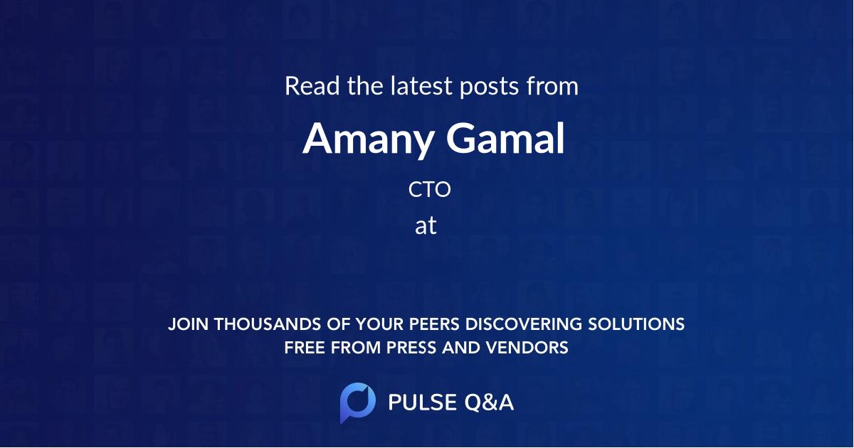 Amany Gamal