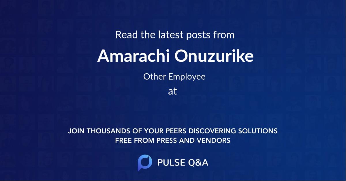 Amarachi Onuzurike