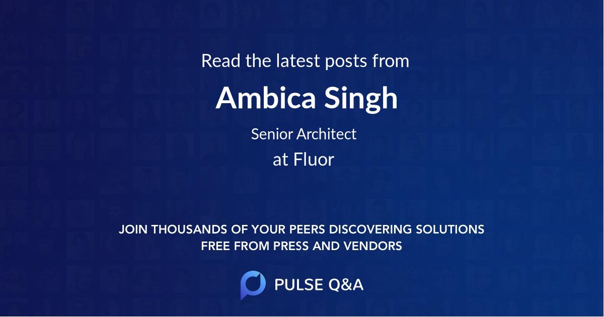Ambica Singh
