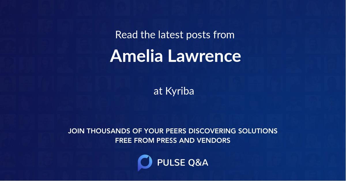 Amelia Lawrence