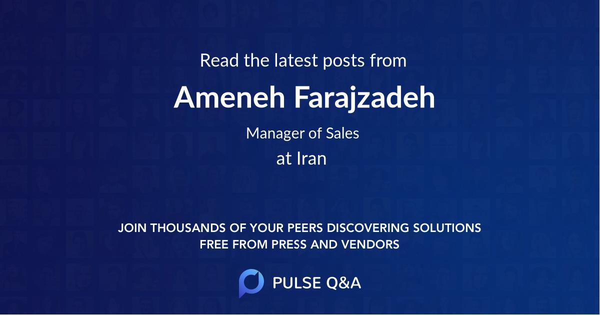 Ameneh Farajzadeh
