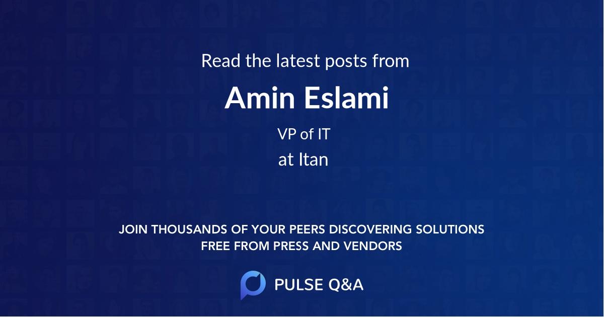 Amin Eslami