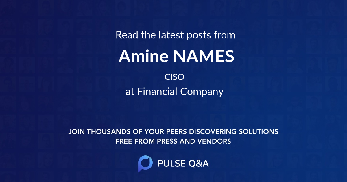 Amine NAMES