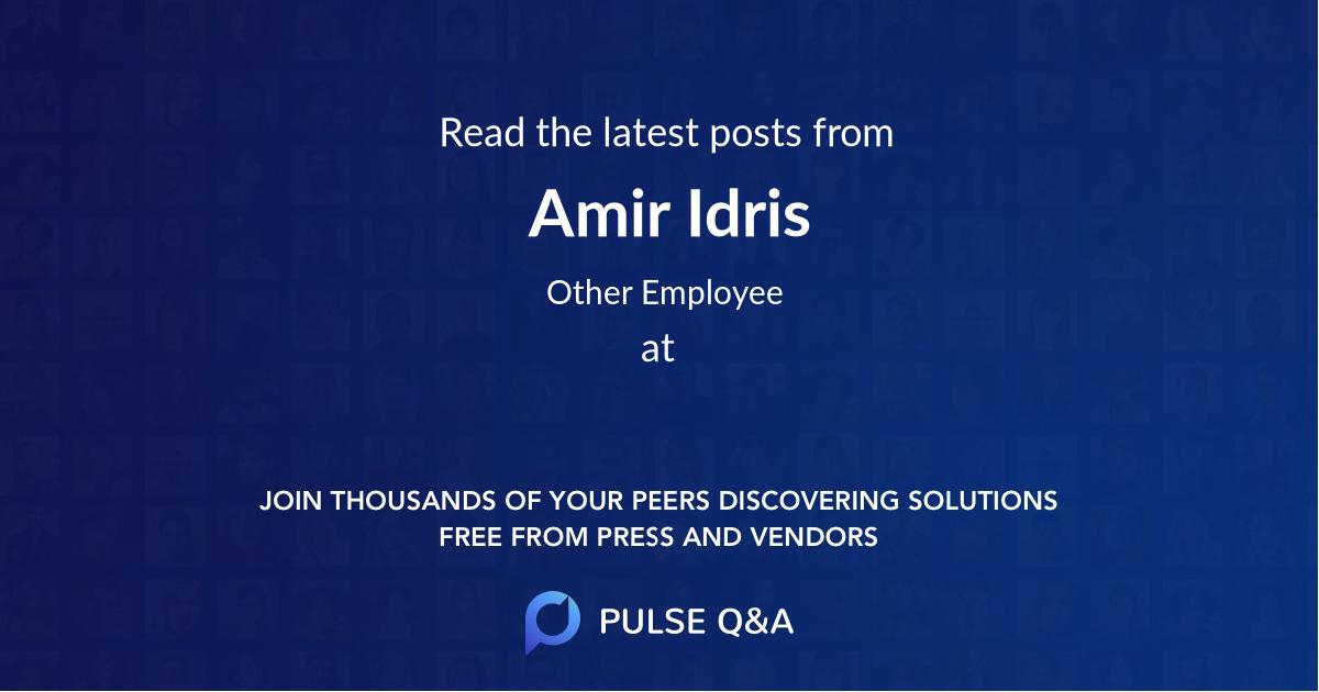 Amir Idris