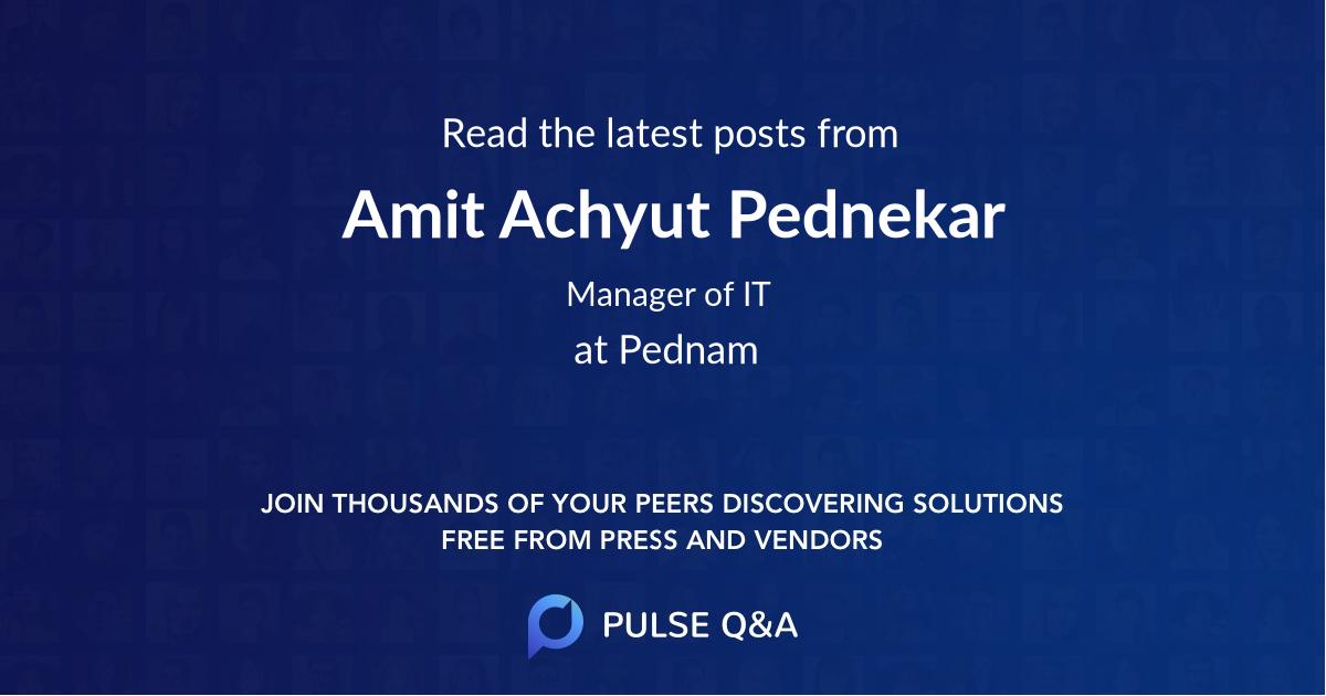 Amit Achyut Pednekar