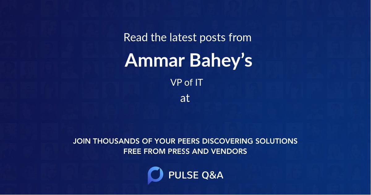 Ammar Bahey's