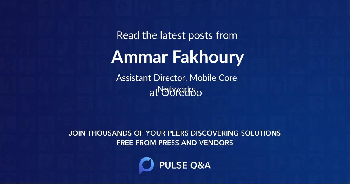 Ammar Fakhoury