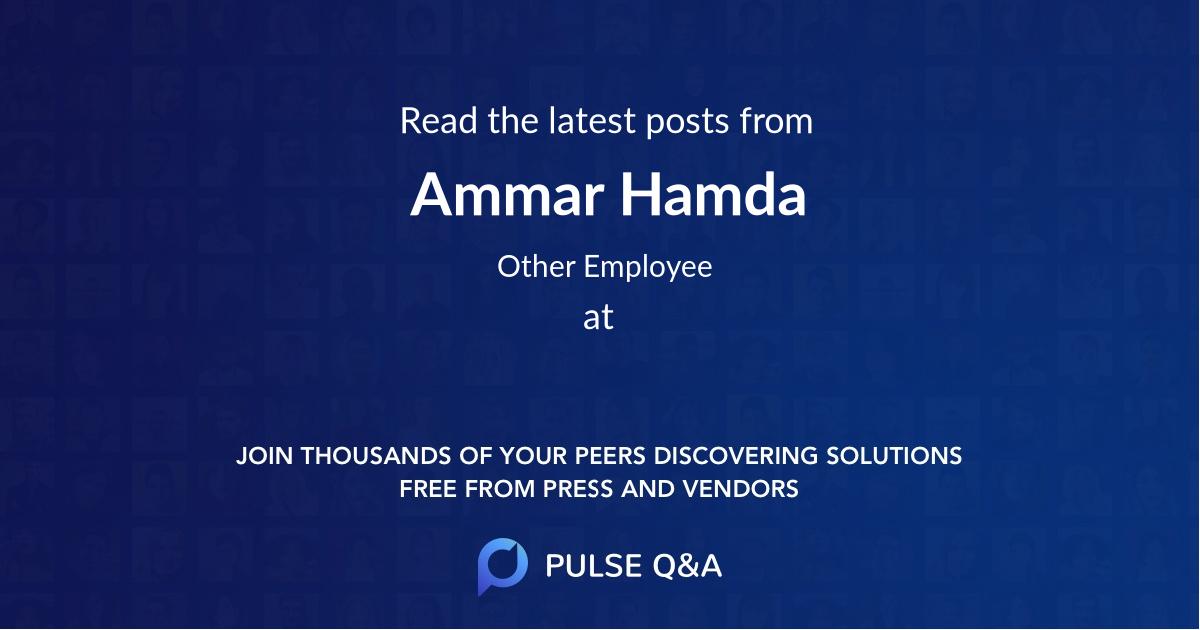 Ammar Hamda