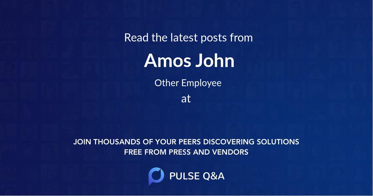 Amos John