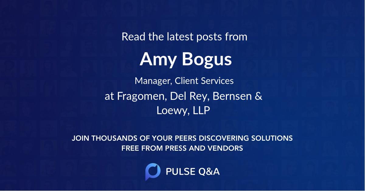 Amy Bogus