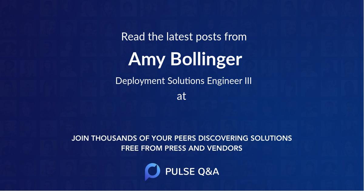 Amy Bollinger